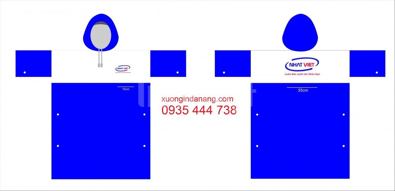 Cung cấp áo mưa in logo miễn phí thiết kế ở Quảng Nam