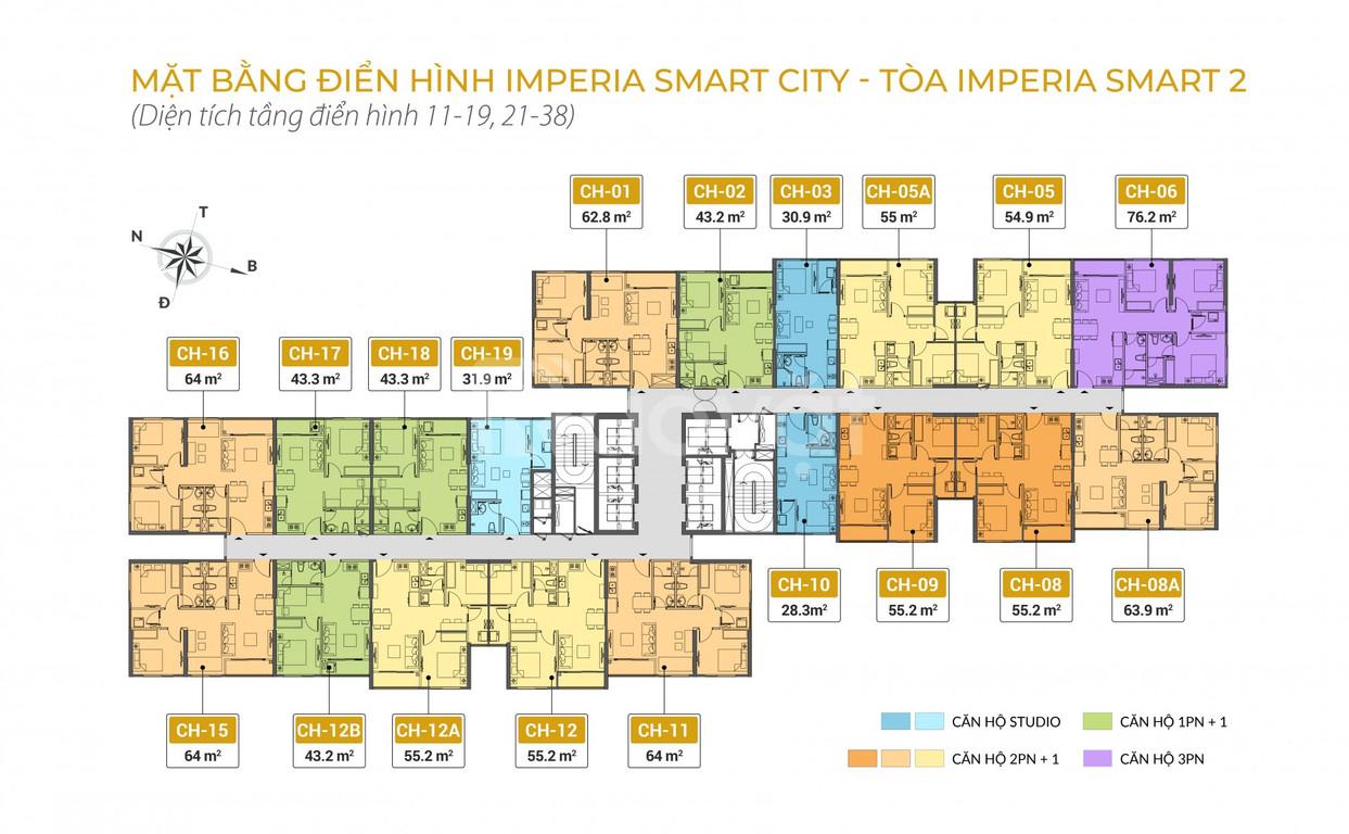 Imperia Smartcity chỉ 15% kí HDMB hỗ trợ 70% lãi suất 0% 24T
