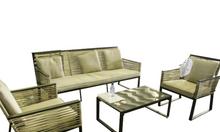 Bộ bàn ghế đan ngang