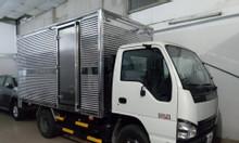 isuzu 1.99 tấn, thùng Kín dài 3.6m, KM tiền mặt 9.4tr, máy lạnh...