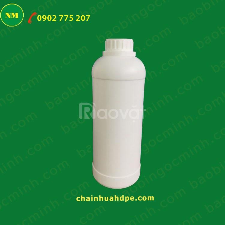 Chai nhựa rỗng 1000ml đựng háo chất, thuốc bảo vệ thực vật.