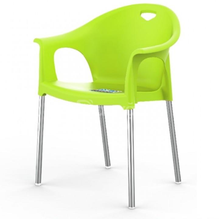 Ghế nhựa chân inox hiện đại