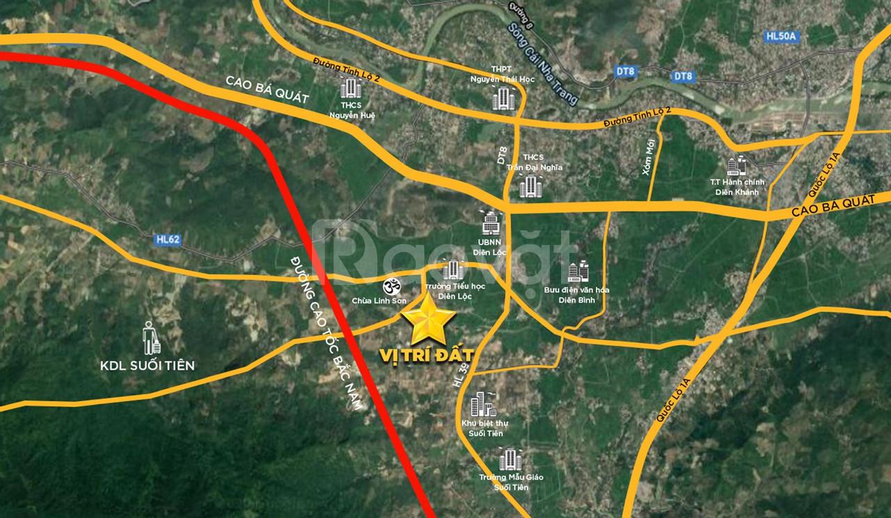 Nhận đặt cọc đất nền sổ đỏ Diên Khánh, giá đầu tư chỉ 270 triệu