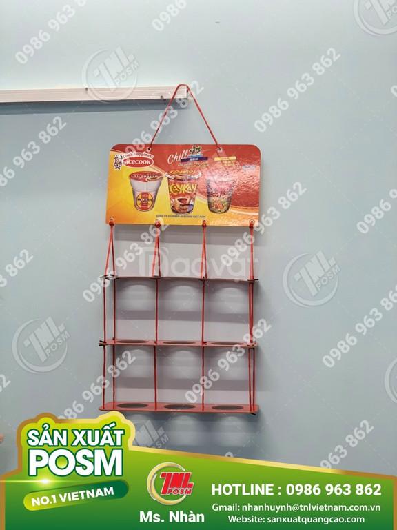 Hanger giấy, vỉ treo giấy quảng cáo sản phẩm.