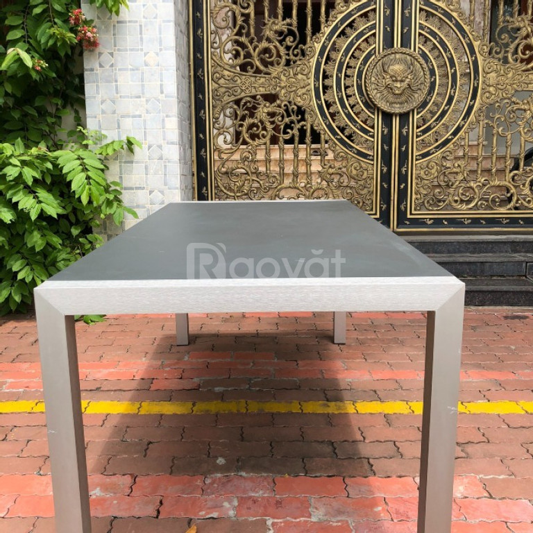 Bộ bàn ghế nhôm đúc màu trắng đẹp mắt