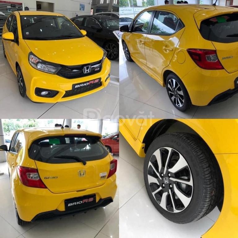 Honda Brio RS 2020 màu vàng thể thao và năng động