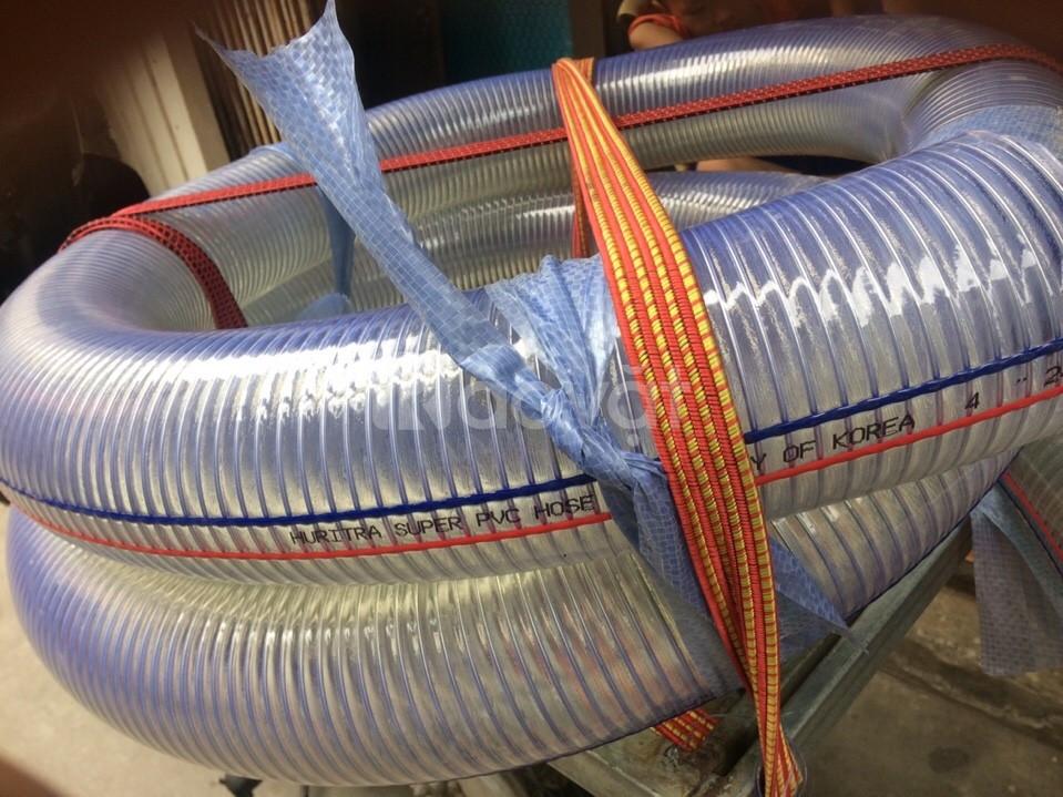 Ống nhựa mềm lõi thép PVC chuyên dẫn nước sạch, dẫn hóa chất D60, D90
