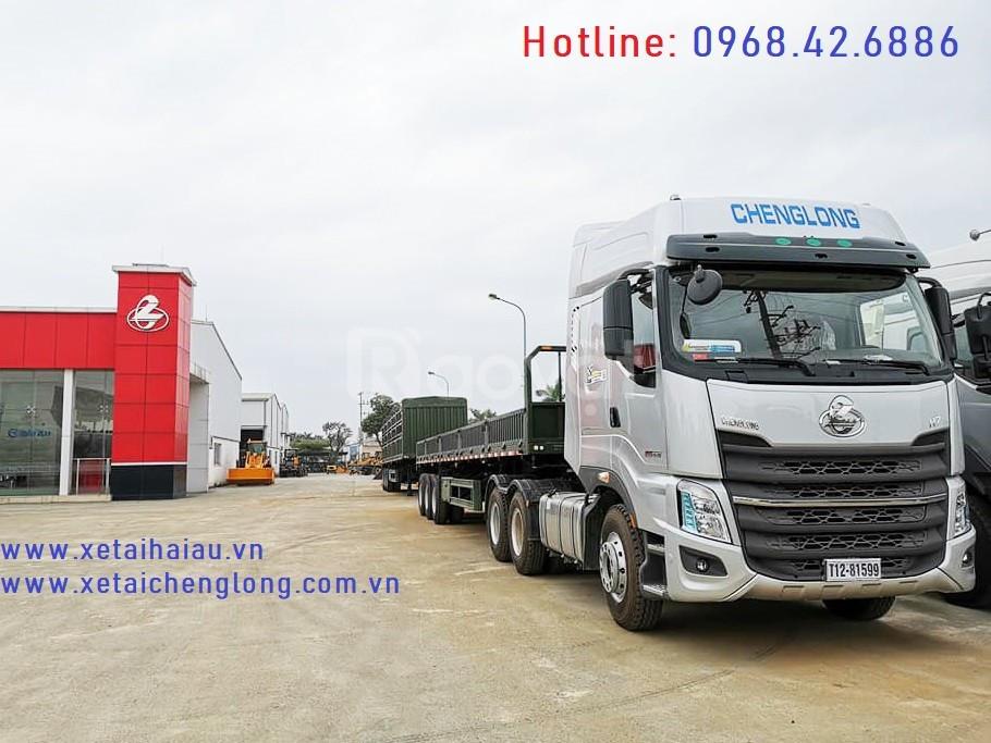 Xe đầu kéo chenglong 1 cầu 2 cầu, giá dau keo chenglong H5 H7 cầu dầu