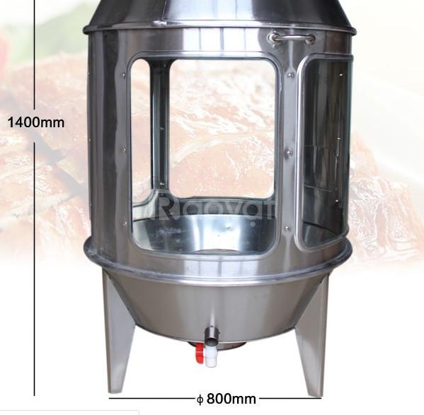 Lò quay gà vịt dùng kính trong 0981268983