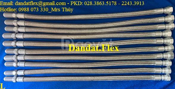 Khớp nối mềm inox lắp ren ngoài dn32 chịu nhiệt