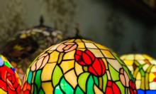 Giao lưu đèn Tiffany cổ gốc Pháp