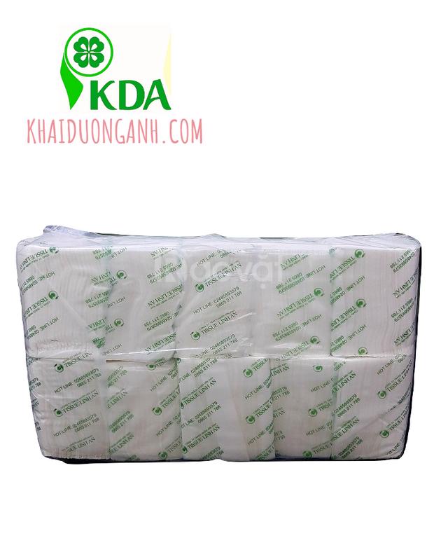 Khăn giấy rút hộp vuông Linh An, khăn giấy rút