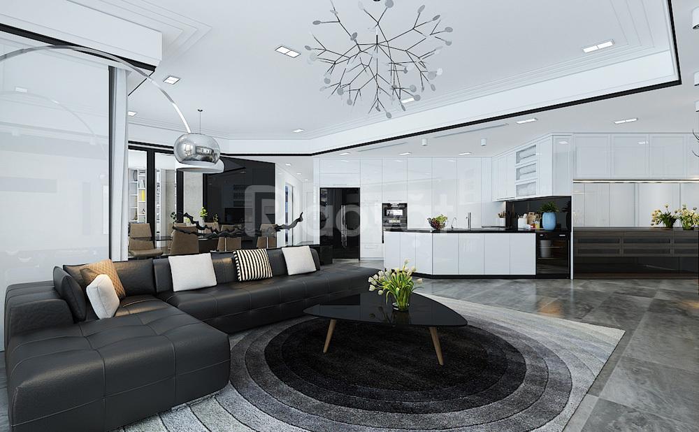 Cho thuê căn hộ diện tích 130m2, đồ cơ bản
