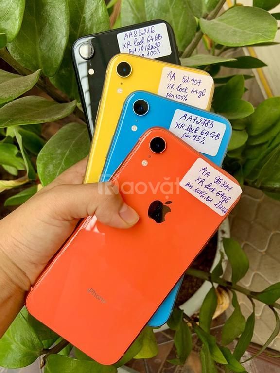 Iphone XR mã Mỹ 64gb lock đẹp keng, zin áp, pin 9x