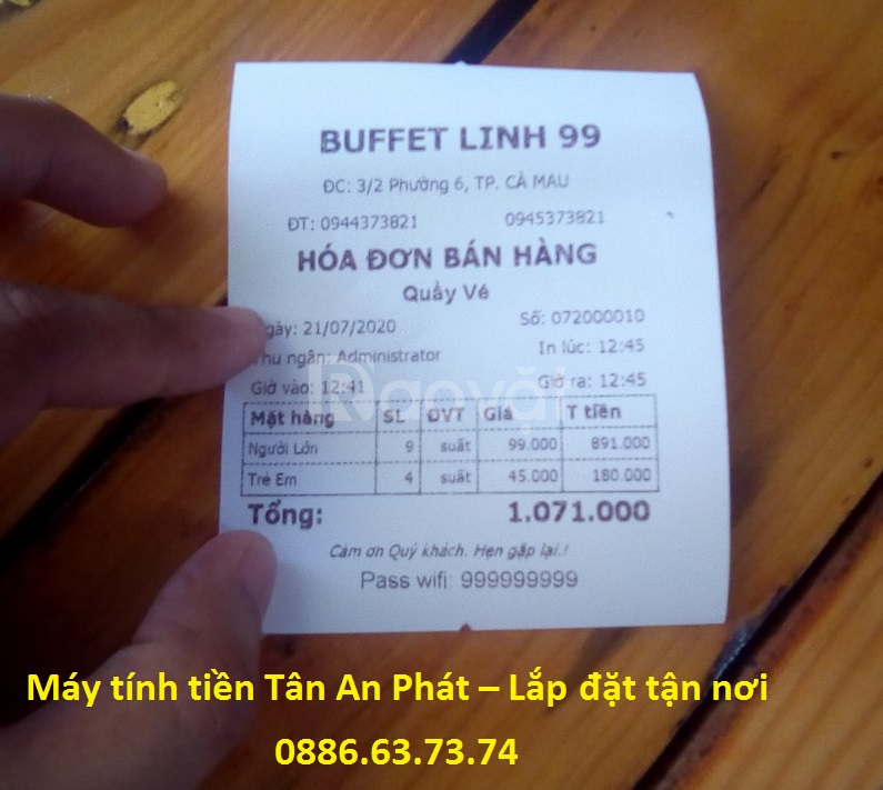 Phần mềm tính tiền giá rẻ Bạc Liêu cho quán buffe