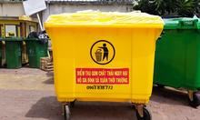 Thùng rác 660 lít thu gom rác ngoài trời
