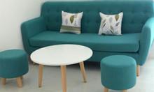 Ghế sofa chân gỗ cao thoáng