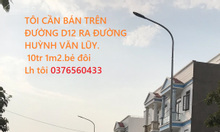 Tôi cần bán nhà đường D12 ra đường Huỳnh Văn Lũy