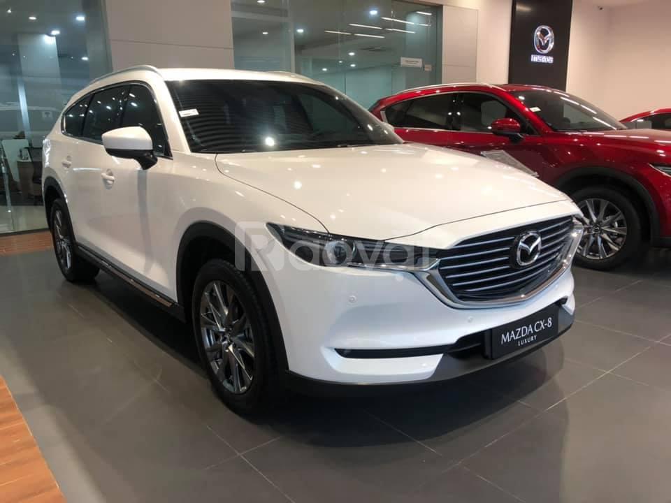 Bán xe Mazda CX8 Luxury 2020 màu trắng giá tốt