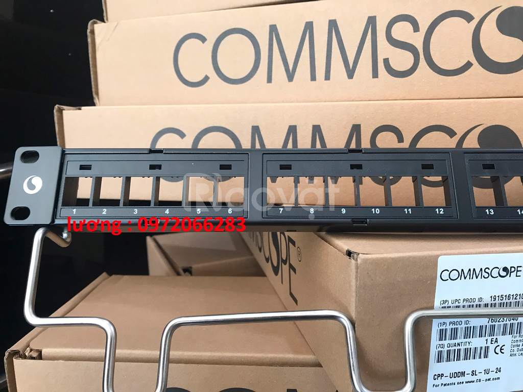 Thanh đấu nối patchpanel cat6A Commscope 24p