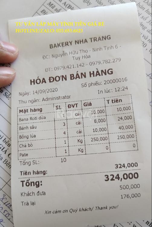 Bán máy tính tiền Pos cho tiệm bánh ngọt tại Phú Y