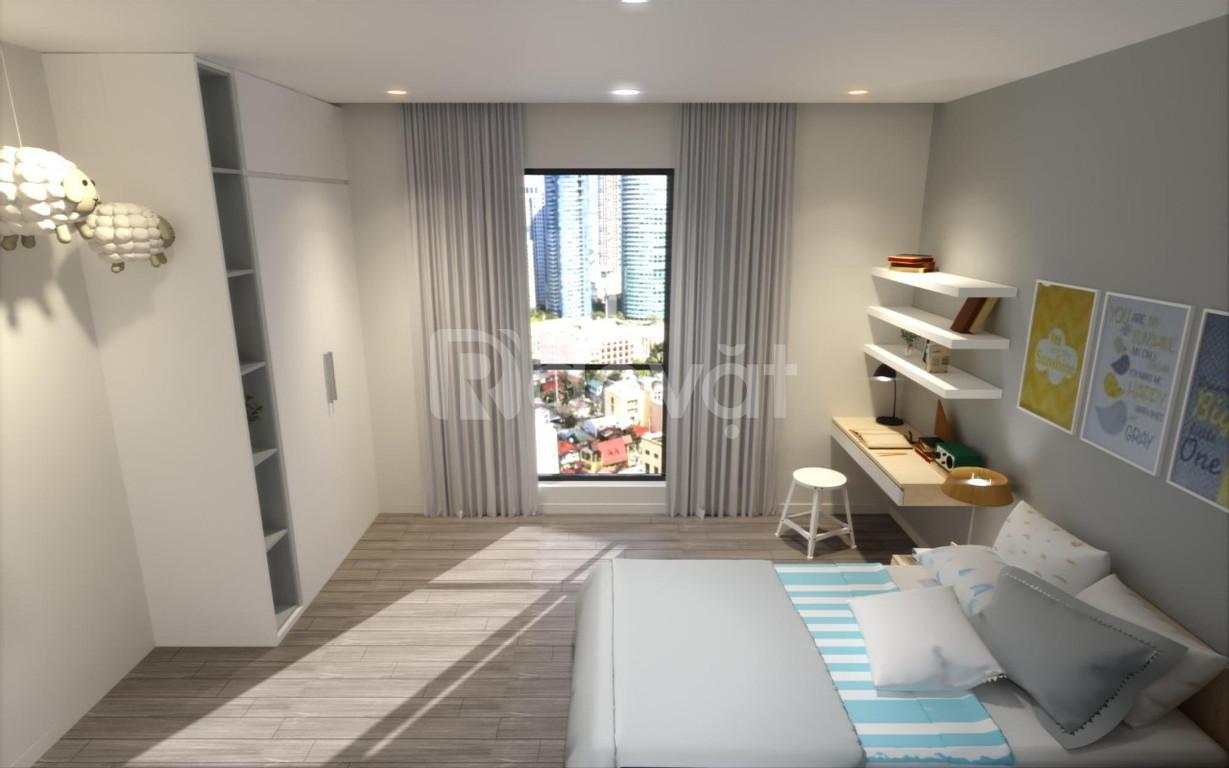 Căn hộ chung cư  2pn + 2 wc diện tích 68.3 m2