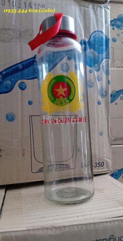 Bình thủy tinh 500ml in logo theo yêu cầu tại ĐN