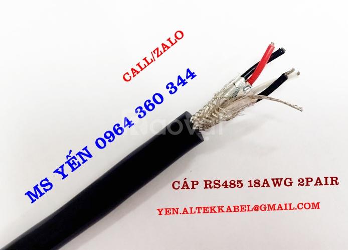Cáp tín hiệu rs485 24AWG 1Pair, 24AWG 2Pair