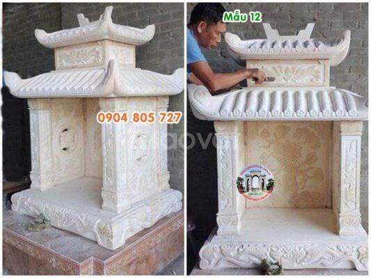 Mẫu miếu thờ thần linh đẹp bằng đá 11