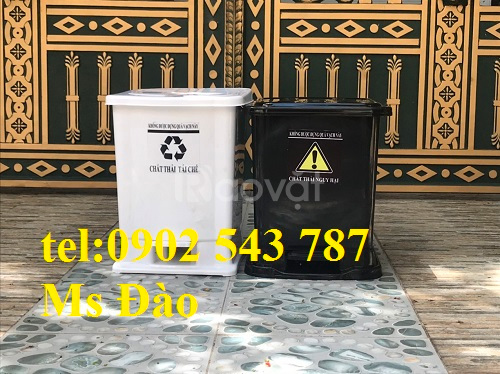 Thùng rác 20 lít đạp chân, thùng rác 20 lít y tế