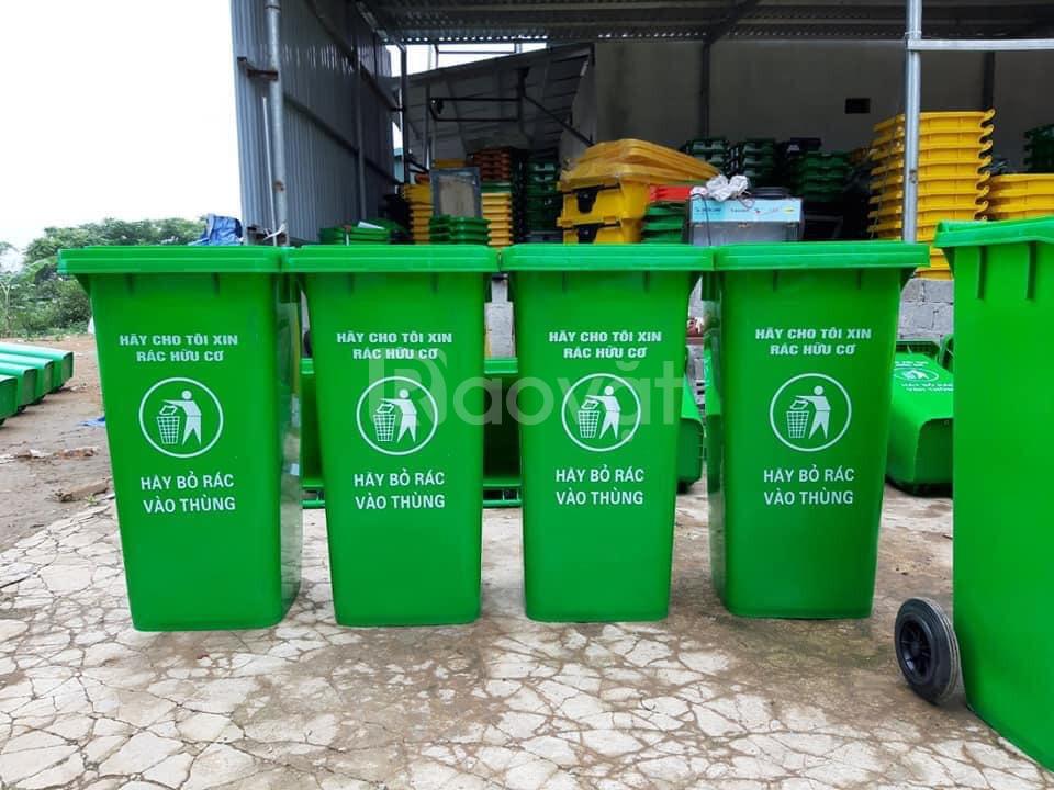 Thùng rác 240L nhựa HDPE, thùng rác giá sỉ