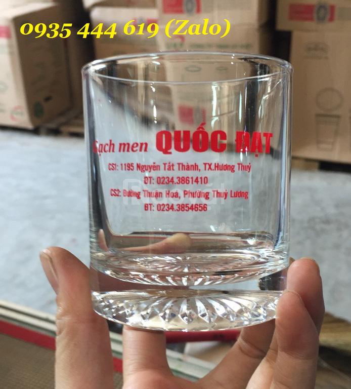 In ly thủy tinh, bình thủy tinh, cốc sứ giá rẻ ở Đà Nẵng