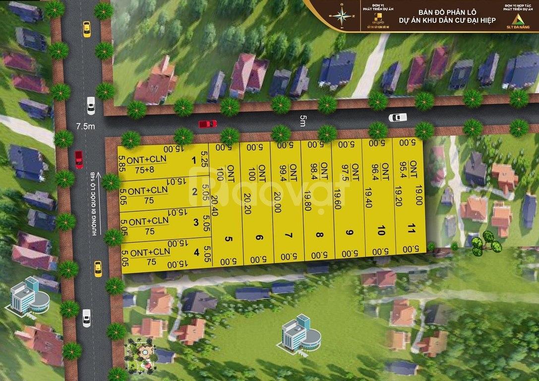 Chỉ 390tr sở hữu ngay đất Đại Hiệp, giáp Đà Nẵng