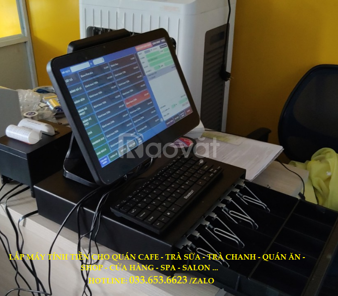 Bán máy tính tiền cho quán trà sữa, cafe, sinh tố tại Long An