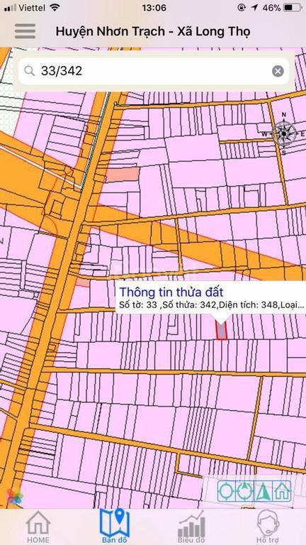 Đất Nhơn Trạch 348m2 khu đông dân cư phát triển, xã Long Thọ