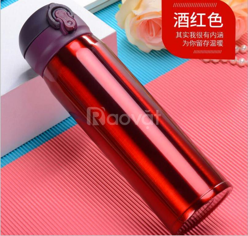 Bình giữ nhiệt inox 450ml có sẵn 2 màu đỏ & đen