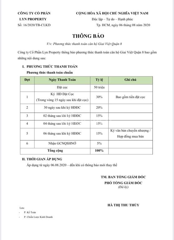 Căn hộ Giai Việt 854 Tạ Quang Bửu, đã có sổ hồng, hàng CĐT