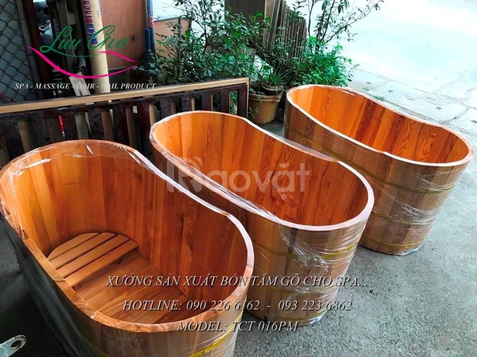 Bồn tắm gỗ thông, giá rẻ tại Hưng Yên
