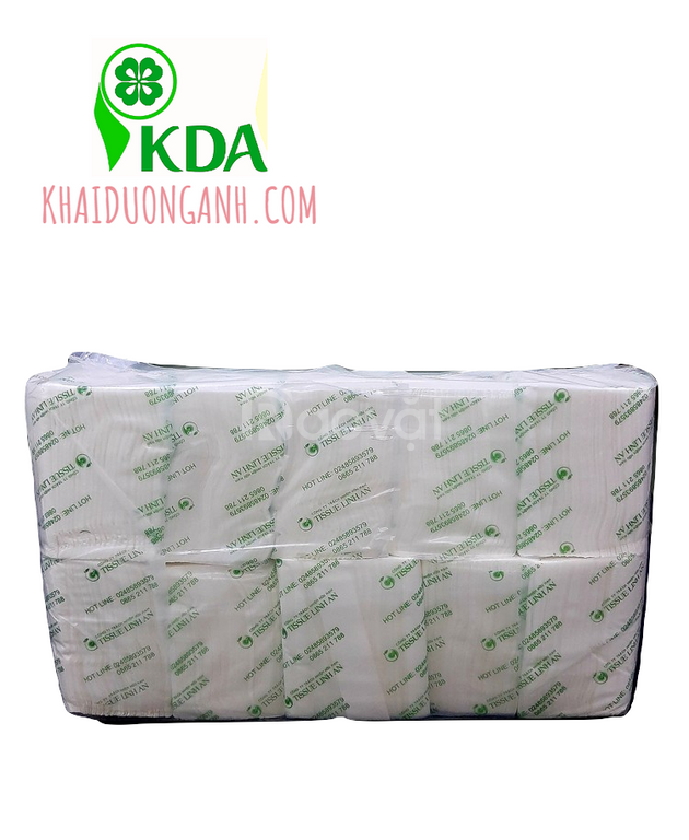 Khăn giấy rút hộp vuông Linh An, khăn giấy rút để bàn giá sỉ Cần Thơ