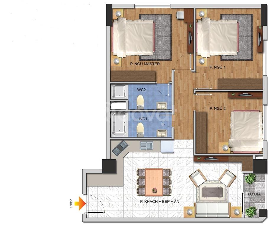 Bán căn hộ 3PN, DT 83m2, KĐT Nam Cường
