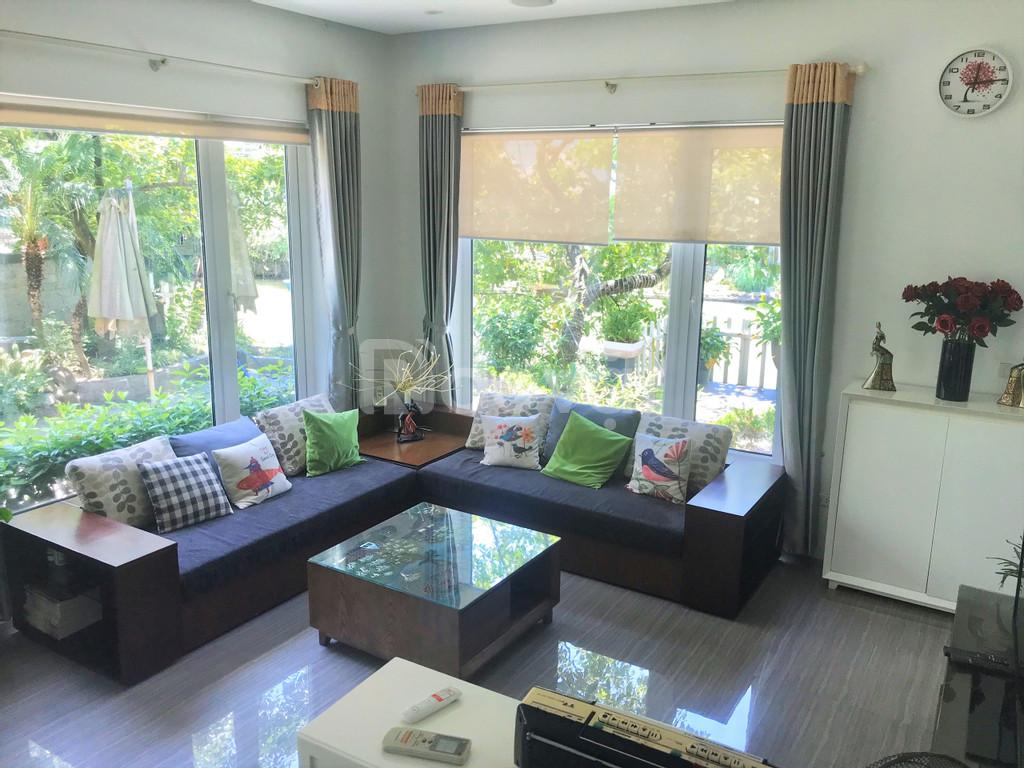Cho thuê biệt thự nhà vườn đầy đủ đồ tại khu đô thị Vinhomes Riverside, Long Biên