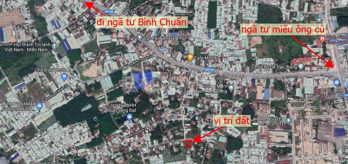 Bán miếng đất 2 mặt tiền Bình Chuẩn 35 và Bình Chuẩn 64 đi ra DT743