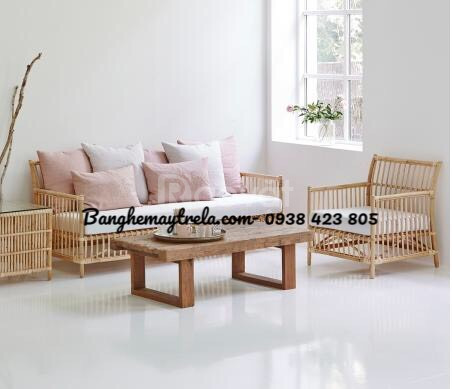 Sofa mây tự nhiên phòng khách