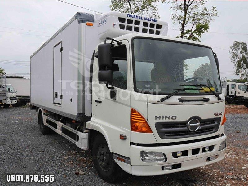 Xe tải Hino FC thùng đông lạnh mới, ngân hàng hỗ trợ vay cao