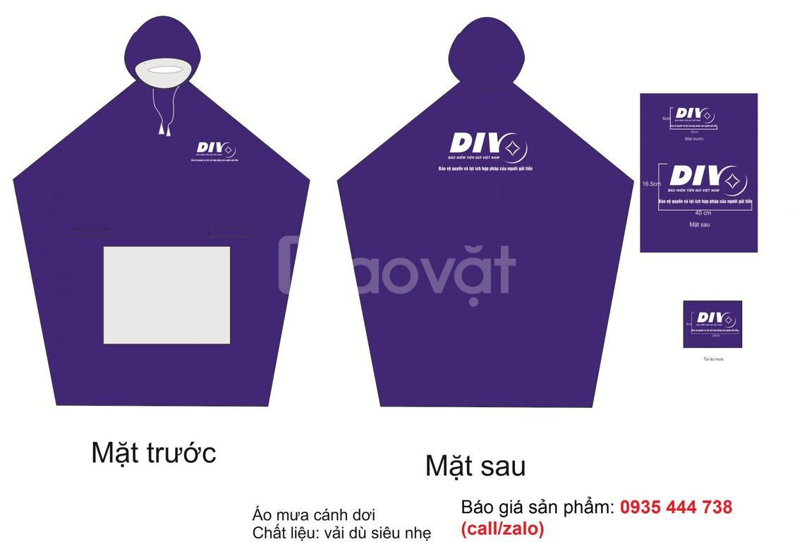 Áo mưa công ty, áo mưa in ấn logo làm quà tặng Đà Nẵng