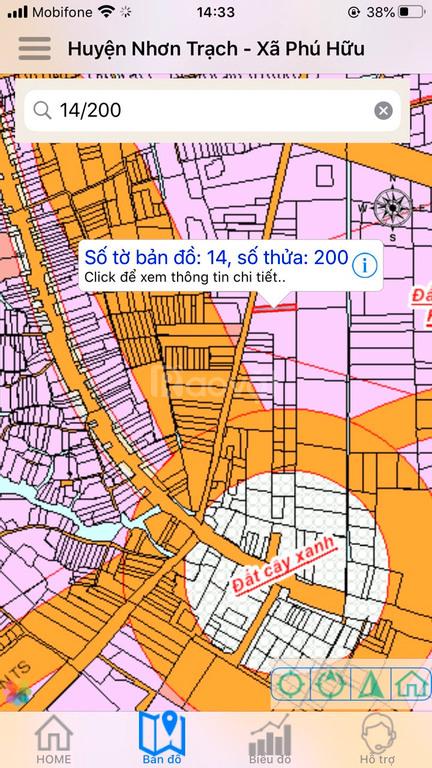 Đất Nhơn Trạch 210m2, MT Phan Văn Đáng, xã Phú Hữu