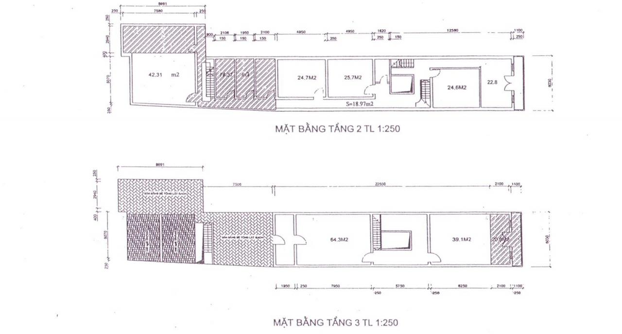 Cho thuê tòa nhà 3 tầng, 80 Mã Mây, mặt tiền 6m2