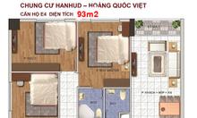 Bán chung cư Hoàng Quốc Việt, tòa Hanhud, 93m2, 3PN