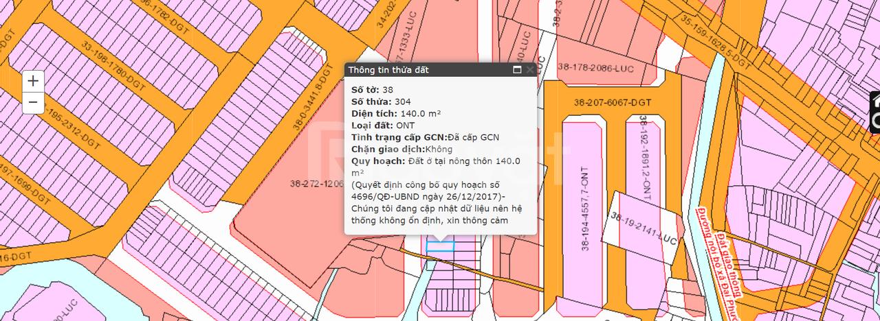Đất Nhơn Trạch 140m2, khu TĐC Đại Lộc, xã Đại Phước