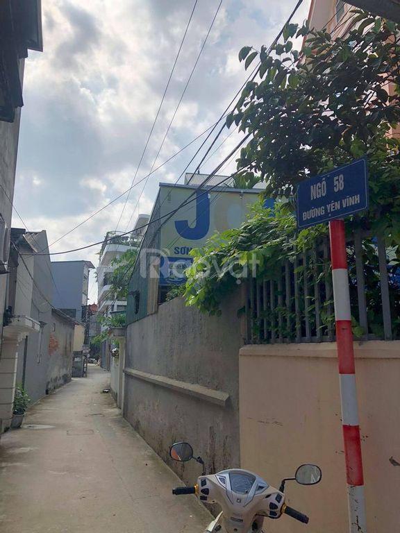Bán nhanh 52,7m2 đất mặt ngõ Yên Vĩnh, Kim Chung, Hoài Đức
